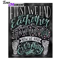 Ever Moment Diamond Painting Blackboard Drawing Having Baby DIY Wall Painting Gift for New born Baby Family Craft ASF1045