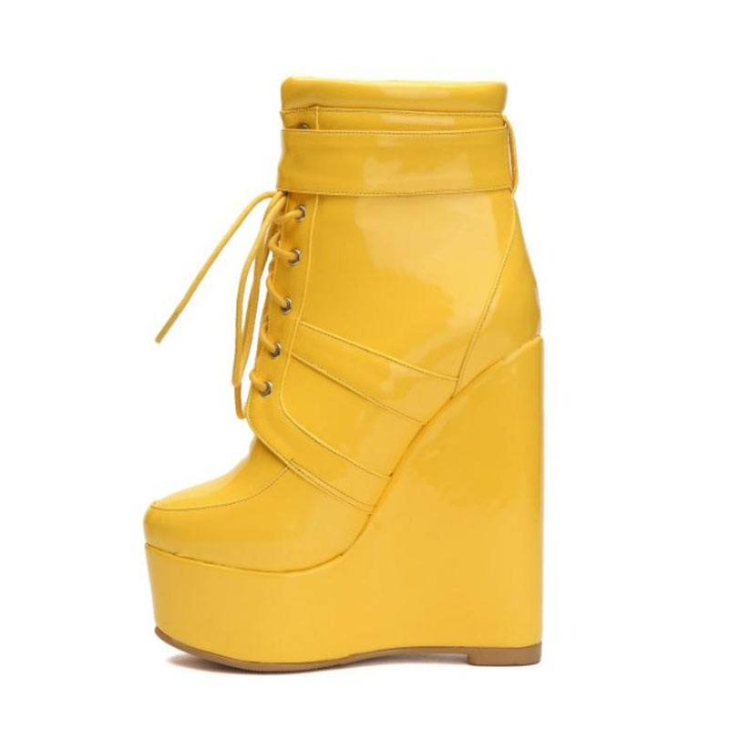 Talons Hauts Taille Nouvelle Chaussures Couleurs 34 Marque Plus Femme 47 Personnalisé Kemekiss Femmes Sexy Wedge Jaune Bottes 6pzHOq5xw5