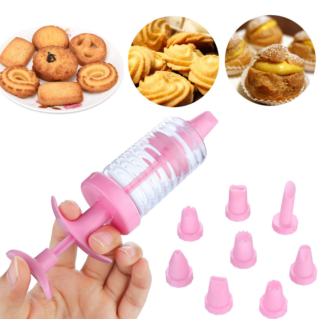 Cookies Biscuit Making Maker Pump Press Machine Decor Icing Mold Set Kitchen Cake Decorating Gun Cream Bakeware Tools New C524