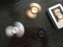 สีTri-s Pinner Fidgetsของเล่นโลหะEDCประสาทสัมผัสFidgetsปั่นมือเซรามิกแบริ่งเด็ก/ผู้ใหญ่ตลกต่อต้านความเครียดของเล่นของขวัญ