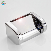 Free Shipping Bright Chrome Finish Paper Box Holders High Quality Bathroom Accessories