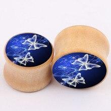 2016 aliexpress new explosion real wood bones ear piercing jewelry earrings expansion PLUG tunnel body jewelry