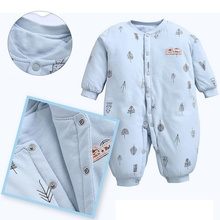 2018 Baby Boy Girl Romper Newborn Sleepsuit Thick Rompers Infant Clothes Long Sleeve Jumpsuits Pajamas