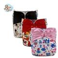 2016 Babyshow Reutilizables Cubierta Del Pañal de Tela PUL Impermeable Cubierta Del Oído de Color Hechizo Digital Impreso Pañales de Tela