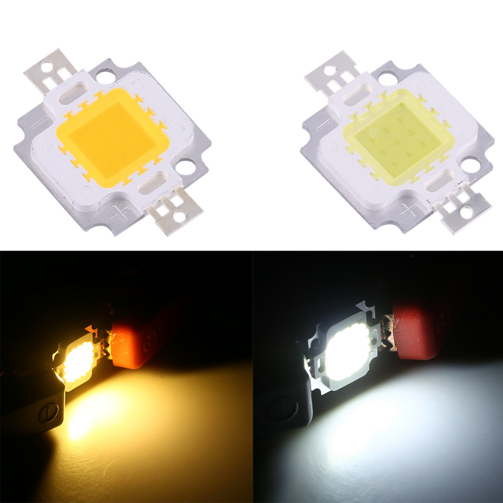 10 pieces of 10W LED Warm White/cold White SMD Patch 120 Degree COB DC 9-12v apply to SMD SMD light bulb.