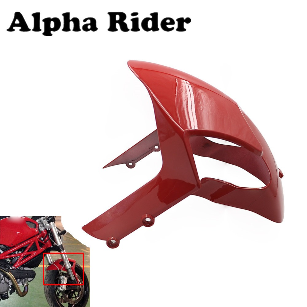 Front Fender Mudguard Mud Guard Mudflap Cover Fairing Plastic Cowling For Ducati Monster 696 2008 2009