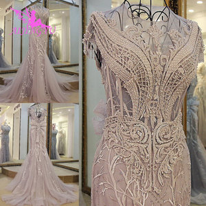 Image 2 - Aijingyu冬のウェディング花嫁ドレスホットクロップトップ婚約ビクトリア朝のガウン変更結婚式のためのエレガントなドレス
