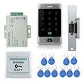 Высокое Качество DIY Водонепроницаемый Металлический 125 КГц Rfid-карты Дверей Контроля Доступа Системы Безопасности Kit с Fail Safe Электрический Удар замок