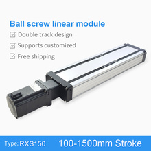 RXS-150 Ball Screw 100~1500mm CNC Linear Module Slide Table Actuator Guide Rail Motion Stage Stepper Servo Motor Robotic Arm Kit цена в Москве и Питере