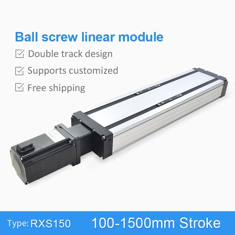 RXS-150 vis à billes 100 ~ 1500mm CNC Module linéaire glissière Table actionneur Guide Rail mouvement étape pas à pas Servo moteur bras robotique Kit