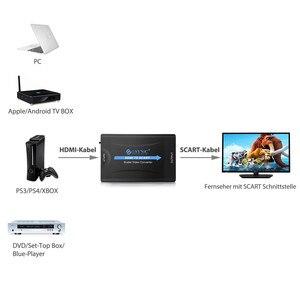 Image 4 - Esynic עבור HDMI כדי SCART ממיר מתאם מרוכבים וידאו HD סטריאו מתאם ממיר HDMI וידאו אודיו יוקרתי אות מתאם