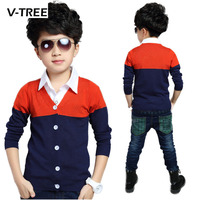 Top Quality Children Outwear Teeage Boys Cardigan Brand Design Fashion Boys Sweaters Casual Autumn Winter Clothing