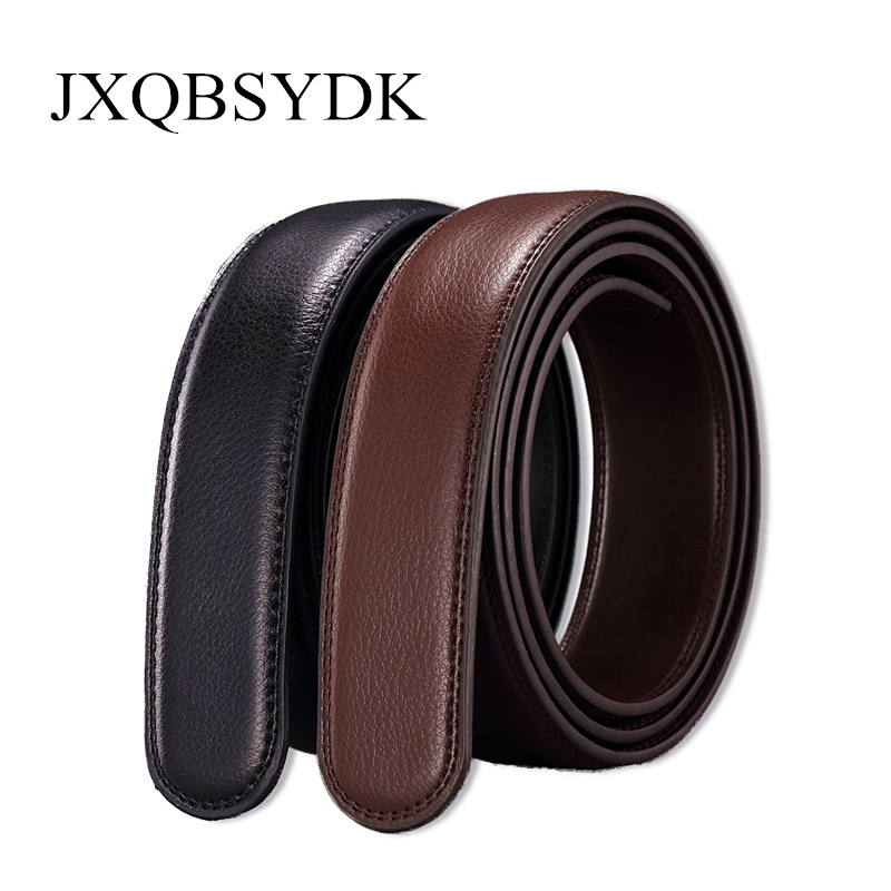 Belts   No Buckle 3.5cm Wide High Quality Leather   Belt   Body Men Fashion Automatic Buckle   Belts   For Men Strap