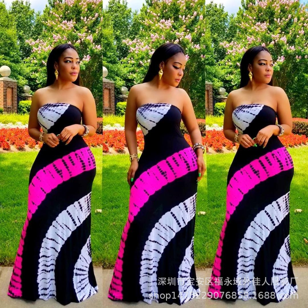 2019 New Arrival Sexy  Style African Women Plus Size Long Dress
