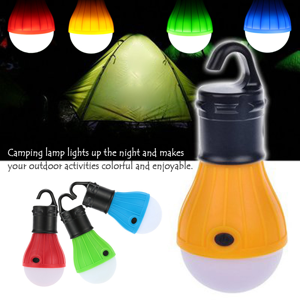 New Outdoor Hanging LED Camping Tent Light Bulb Fishing Lights Soft light Portable Lantern Lamps 3LED