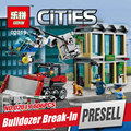 Lepin 02019 606 Unids City Series El Bulldozer Rodaje establece Niños Educativos Bloques de Construcción de Ladrillos de Juguetes de Niño Modelo regalo 60140