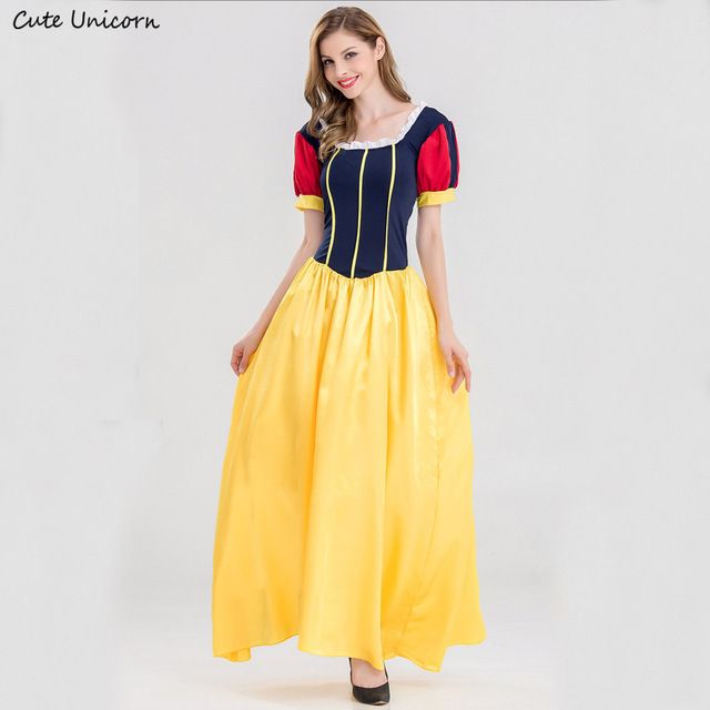 adult snow white princess halloween costumes for women party carnival cosplay costume fairy tale storybook female