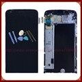 Para lg g5 h850 display lcd com tela de toque digitador assembléia com frame + ferramentas preto frete grátis