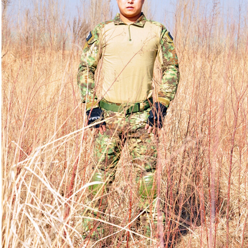 Airsoft Hunting Outdoor Combat Uniform Camouflage Suit Pants and Jacket Set with Knee Pads Army Military Tactical Combat Uniform camouflage suit sets army military uniform combat airsoft war game uniform jacket pants uniform