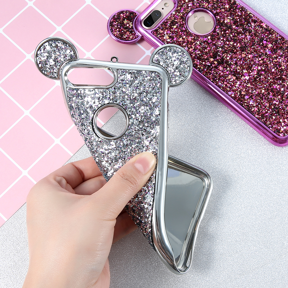 Kisscase Phone Case For Iphone 7 6 6s Plus 5 5s Se Cute Girly 3d Mickey Ear Cases For Iphone X 10 Bling Glitter Cover Shell Capa Phone Bags & Cases Cellphones & Telecommunications