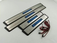 Car Door Sill Cover With LED Light For Nissan X Trail XTrail 2014 2016 2017 2018 Welcome Pedal Trim Car Styling Accessories 4pcs