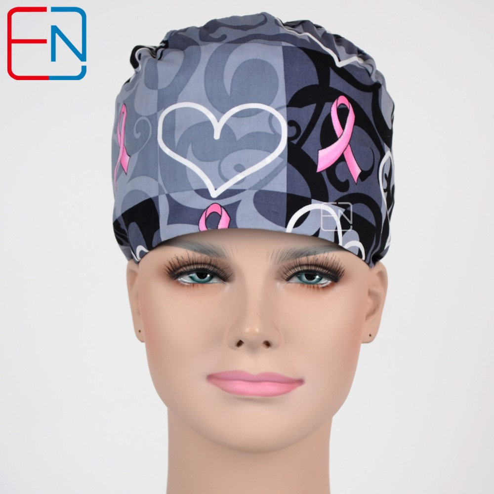 Surgical Scrub Caps With Flowers Hearts And Butterflies