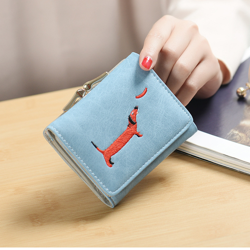 YOUYOU MOUSE Korean Style Lovely Women Wallet Embroidery Animal Pattern Purse Short Section PU Leather 3 Fold Small Wallets галеев р каинов мост
