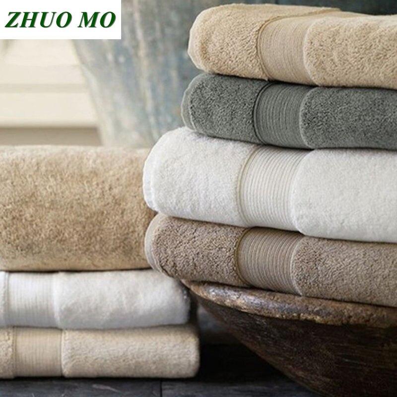 Algodão egípcio Terry toalha de praia Toalhas de Banho casa de banho 70*140 centímetros 650g de Luxo de Espessura Sólida para a casa de Banho SPA toalhas De banho para Adultos