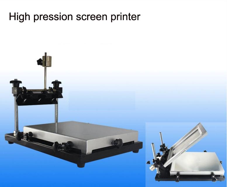 Manual Operation Small Flat Screen Printer