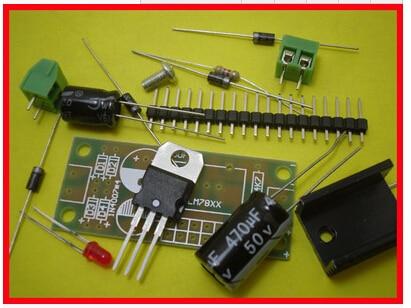 Free Shipping! 5pc L7812 LM7812 three terminal regulator module 12V voltage regulator module suite