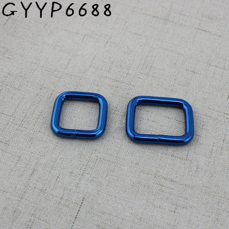 10pcs 50pcs Blue Metal Square Ring Buckles Garment Belt DIY Luggage Sewing Handmade Bag Purse Buttons