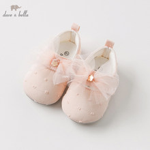 DB10964 Dave Bella spring autumn baby girl pink bow leather shoes