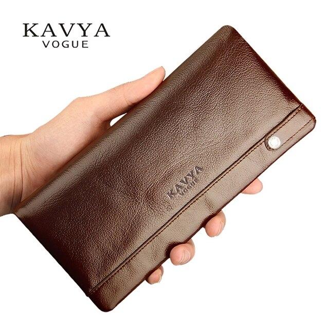 Кошелек kavyavogue мужской из натуральной кожи модный дизайнерский