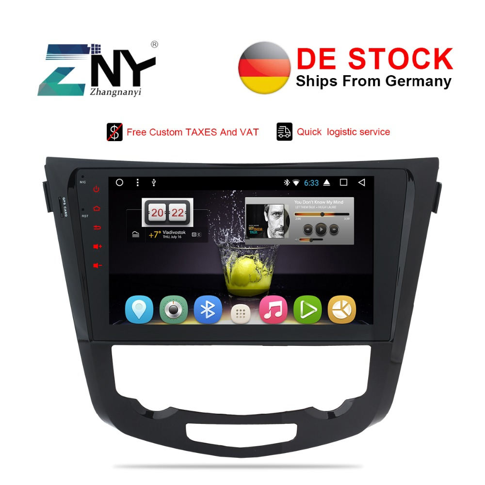 "10.1"" Android Car Stereo For Nissan Qashqai X-Trail 2014 2015 2016 2017 Auto Radio RDS GPS Glonass Navigation Audio Video No DVD"