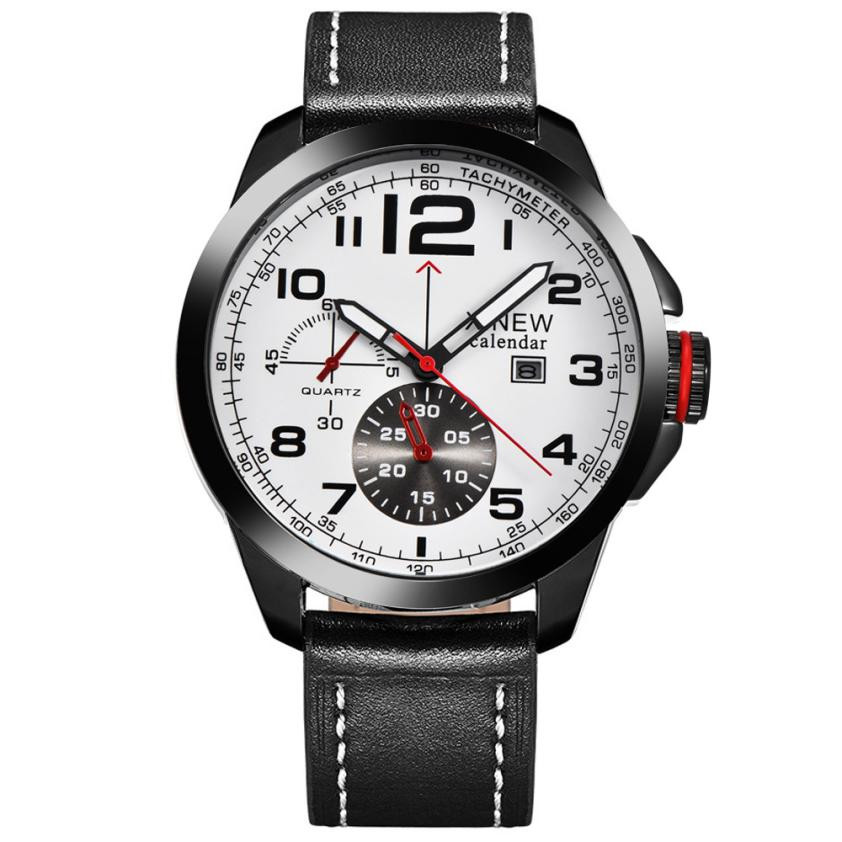 Luxury Brand Watches Mens XINEW Faux Leather Strap Analog Quartz Watch Men Sports Clock Military Wrist Watches Relogio Reloj #Ni 2017 xinew brand luxury men s watch aviator white automatic mechanical date day leather band quartz wrist watch military clock