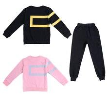 Дети Девушки Осень 2016 новый отдых костюм весна и осень модели женского пола ребенка ребенок большой девственный кусок