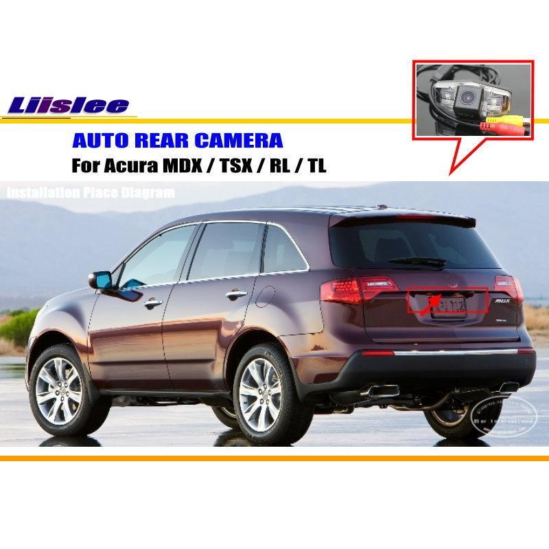 Liislee For Acura MDX / TSX / RL / TL Rear View Camera / Backup Parking Camera / HD CCD RCA NTST PAL / License Plate Light CAM