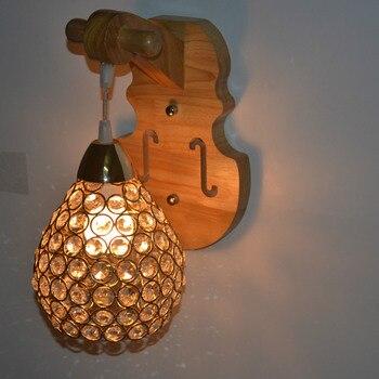 Yook 2018 Houten Wandlamp Kristal Wandlamp Bed Voor Slaapkamer Wandlamp Hout E14 110 V 220 V