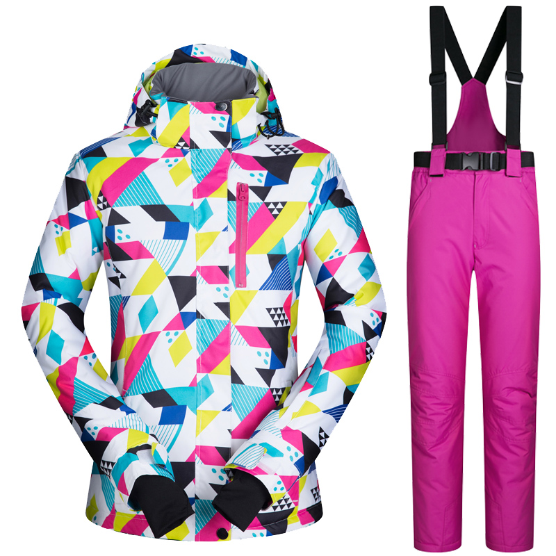 2017 New High Quality Women Ski Suit Winter Female Snow Jacket And Pants Waterproof Warm Outdoor Mountain Snowboard Clothes