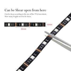 Image 2 - 5050 フレキシブルledテープランプ 5 12v rgb ledライト電球デスクトップhdtvテレビ背景バイアス照明pc画面の装飾 1 メートル 2 メートル 3 メートル