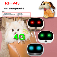 New arrived 4G mini gps tracker RF v43 waterproof Step counting Voice monitor pet dog gps tracker Free software location