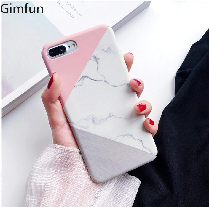 Gimfun Fitted Hard Marble Case on For Iphone 7 XS MAX Xr 6 8 Plus Case Hard Plastic Cover for Iphone 11 Pro Max Case Cover Fitted Cases    - AliExpress