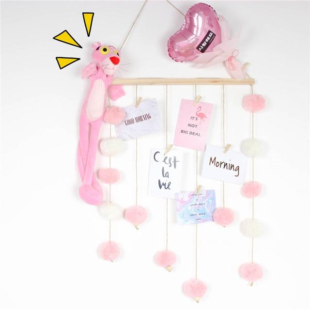 Children Room Decoration Wood Wool Ball Wall Hanging Birthday Gifts Kids  Baby Bedroom Decor Nursery Wall