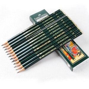 Image 5 - Faber castell lápis de desenho, lápis de desenho preto personalizado 12 peças de marca (6h 8b)