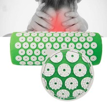 7 Color Acupressure Pillow For Fitness Yoga Mat Bed Pilates Massager Relieve Stress Pain Foot/Neck/Back(China)