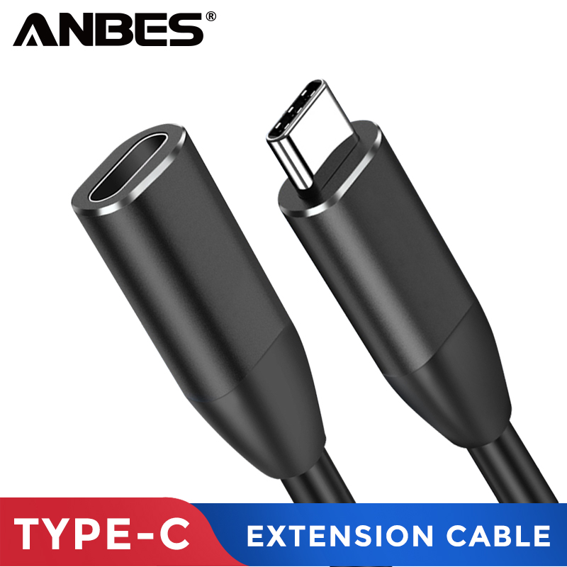 ANBES USB C Extension Cable Type C Extender Cord USB-C Thunderbolt 3 for MacBook Pro Nintend Switch USB 3.1 USB Extension CableANBES USB C Extension Cable Type C Extender Cord USB-C Thunderbolt 3 for MacBook Pro Nintend Switch USB 3.1 USB Extension Cable