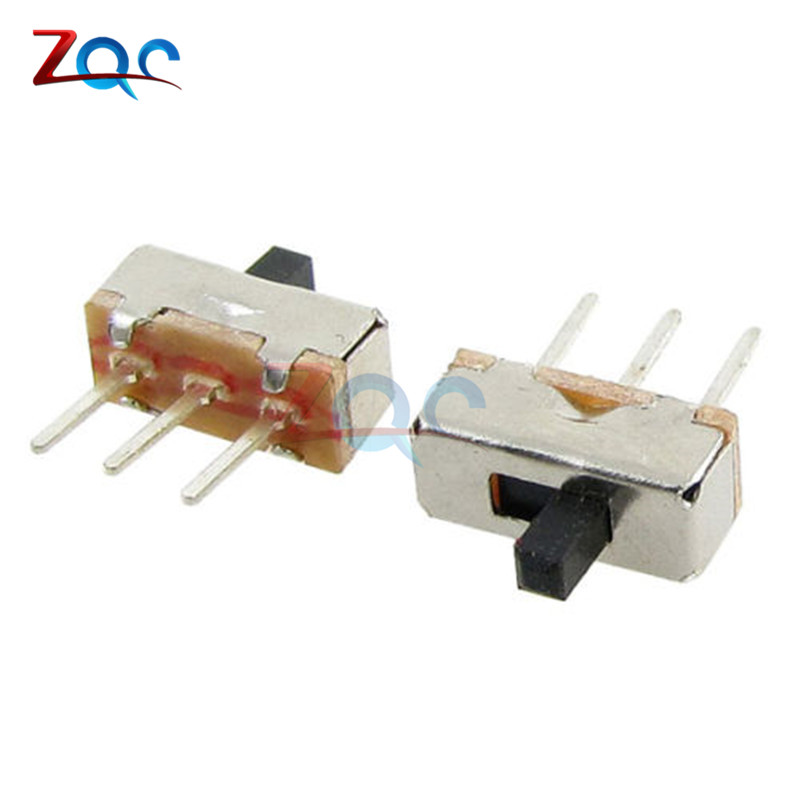 20PCS SS12D00G3 Slide Switch 2 Position SPDT 1P2T 3Pin PCB Panel Mini Vertical Toggle Switches For DIY Electronic Accessories new 50pcs lot miniature slide switch spdt 3 pin pcb 2 position 1p2t side knob handle high 3mm sk12d07vg3