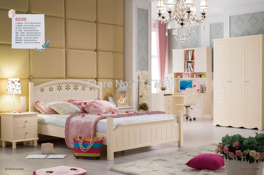652B Home furniture bedroom furniture princess bed wooden factory price bed 1.5m bed paulmann 97 652