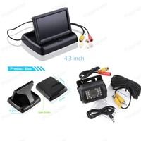24 V truck reverse parking camera + 4.3 inch Foldable TFT LCD Rearview Mirror Monitor for parking reversing, free shipping
