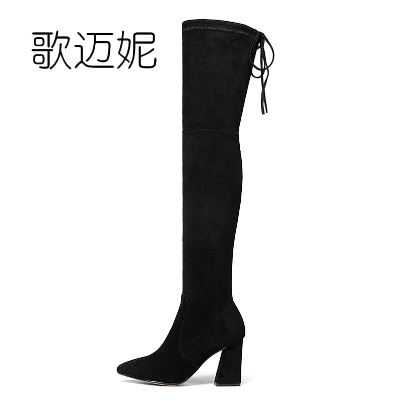 womens winter over the knee high boots ladies thigh high boots women bota feminina botas mujer botines mujer 2017 boot laarzen odetina warm cotton snow boots black over the knee long boots womens thigh high boots waterproof fashion ladies winter shoes